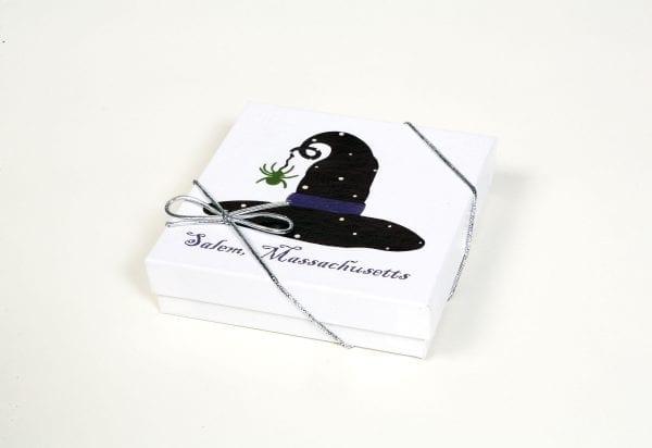 ceramic witch hat coaster with cork bottom box