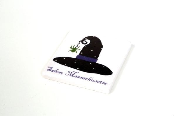 ceramic witch hat coaster with cork bottom