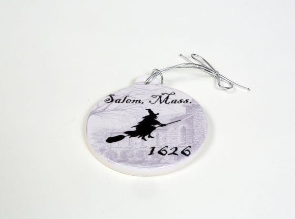 ceramic witch ornament