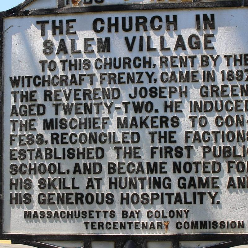 Danvers First Church Sign