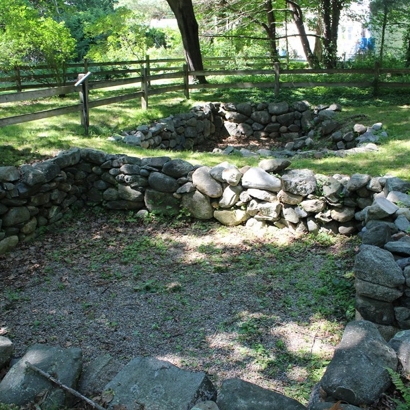 Foundations of the 1692 Parsonage