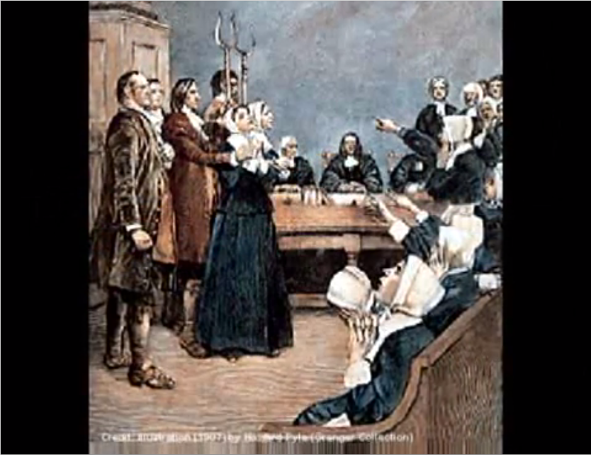 How did the Salem Witch Court decide who was a witch?