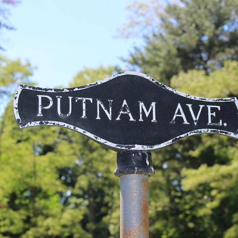 Putnam Ave Sign Wadsworth Cemetery