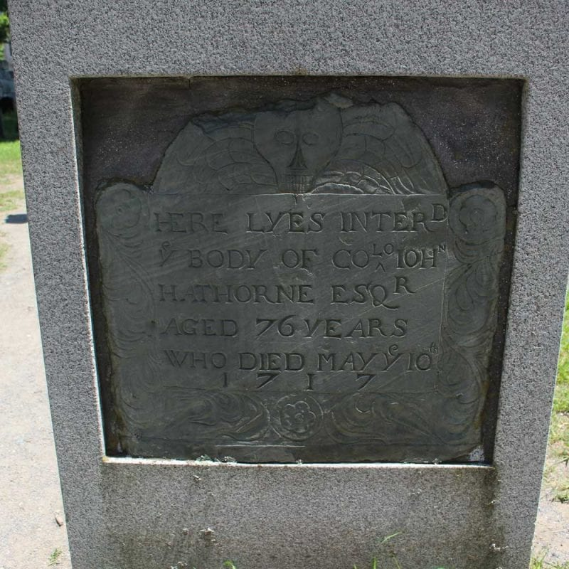 Old Burying Point Tombstone of Hathhorne