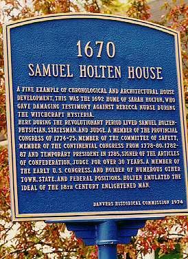 Samuel Holten House Sign