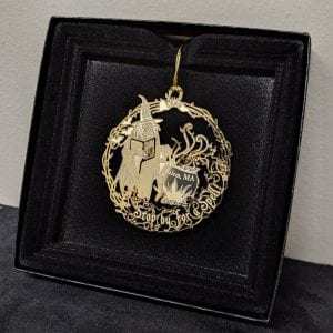 SWM gold ornament