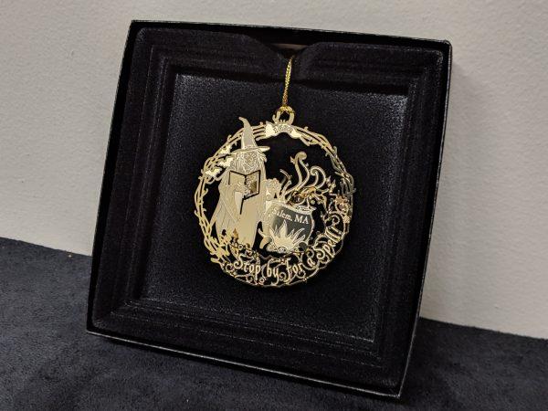 SWM gold ornament