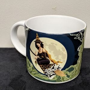 pin up with large mug