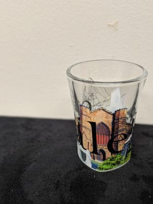 salem montage shot glass