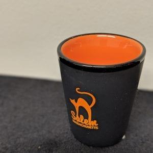 orange cat shot glass