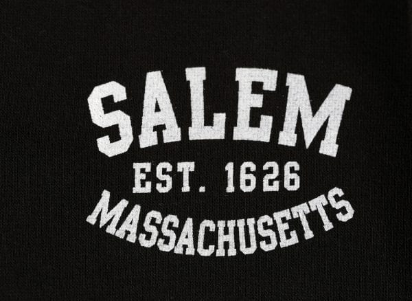 "Says ""Salem Massachusetts est. 1626"""