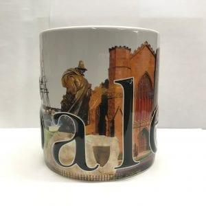 Large Salem Montage mug. Angle 2