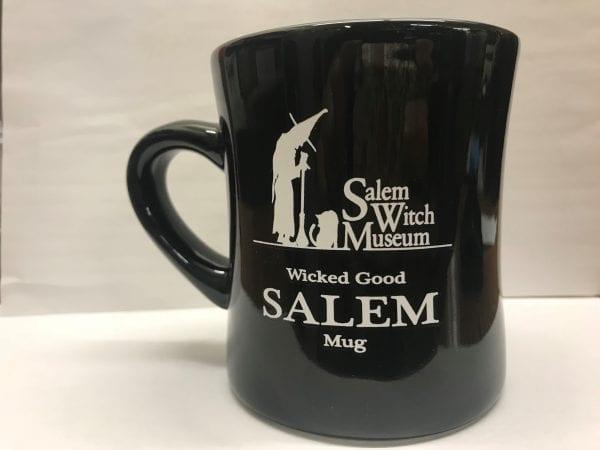 black Salem mug