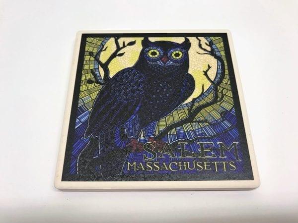 mosaic owl coaster