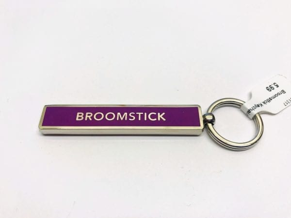 purple broomstick keychain