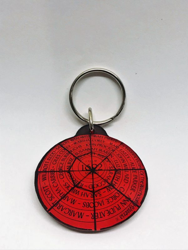 red circle key chain