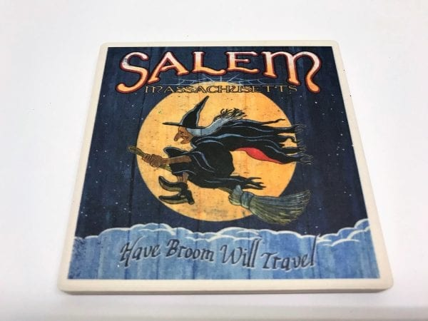 vintage witch coaster