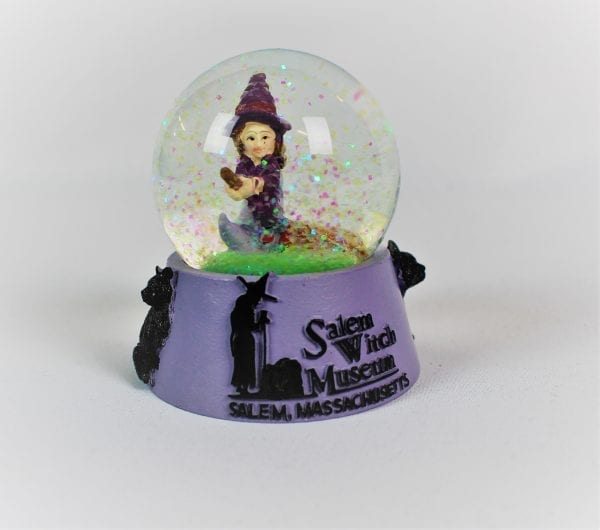 front image witch snow globe