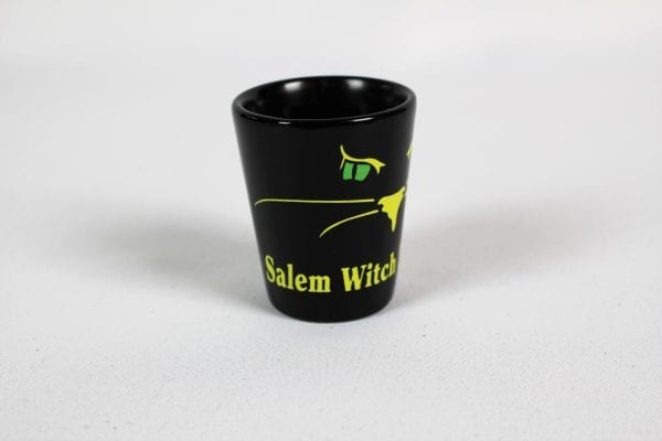 side image black cat shot glass