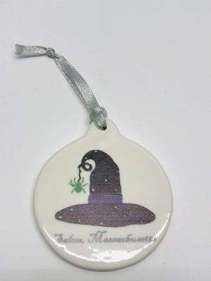 ceramic witch hat ornament
