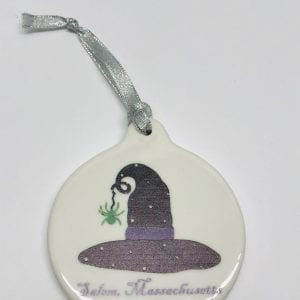 ceramic witch hat ornament