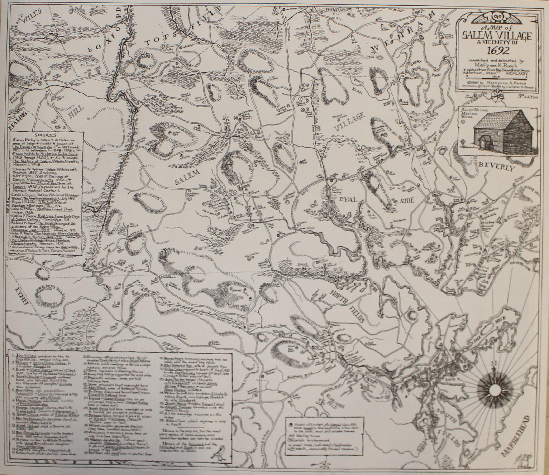 salem village salem witch trials map Salem Village Map Salem Witch Museum salem village salem witch trials map