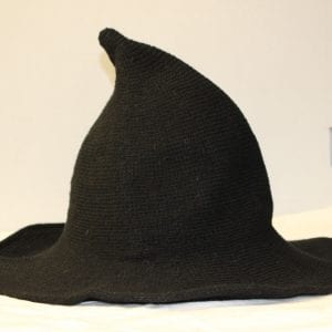 black knit witch hat