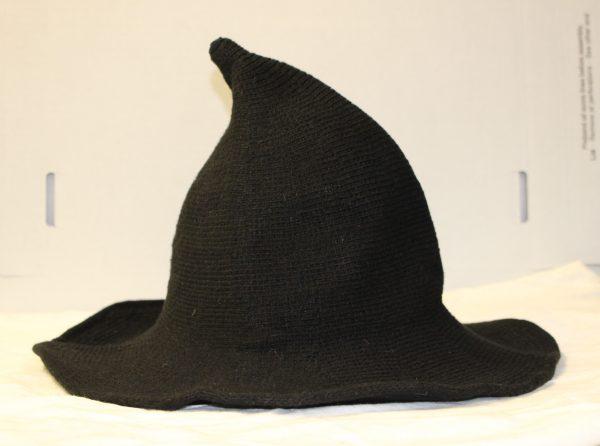 black knit witch hat