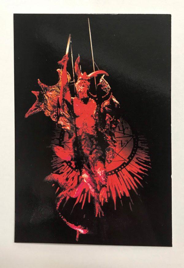 devil picture. postcard