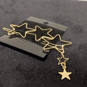 Gold stars hair clip