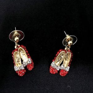 red shoes earrings
