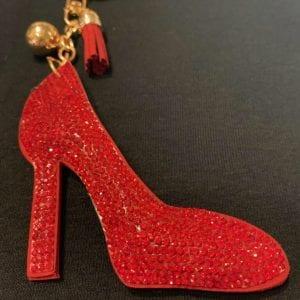 red shoe keychain