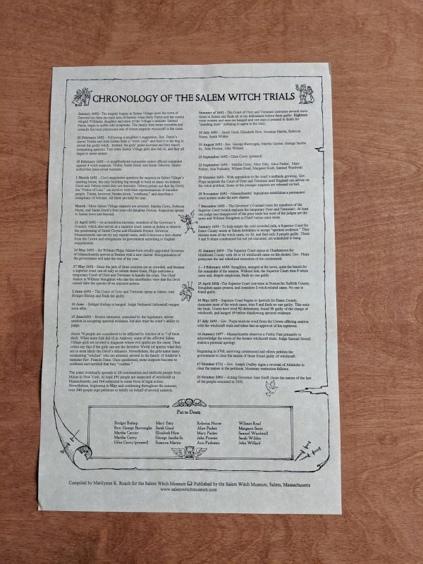 Chronology Scroll